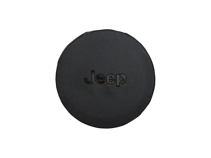 Mopar Jeep Logo Spare Tire Cover - Black (87-20 Jeep Wrangler YJ, TJ, JK & JL)