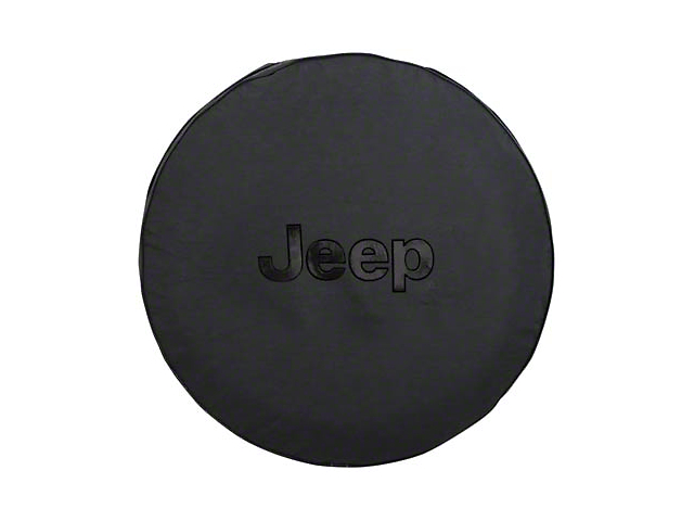 Mopar Jeep Logo Spare Tire Cover - Black (87-19 Jeep Wrangler YJ, TJ, JK & JL)