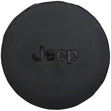 Mopar Jeep Logo Spare Tire Cover - Black (87-18 Jeep Wrangler YJ, TJ, JK & JL)