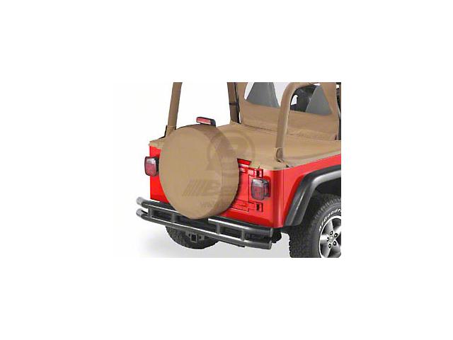 Bestop 29x9 in. Spare Tire Cover - Black Crush (87-19 Jeep Wrangler YJ, TJ, JK & JL)