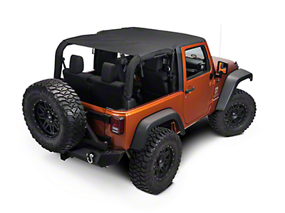 Rugged Ridge Pocket Island Top - Black Diamond (07-09 Jeep Wrangler JK 2 Door)