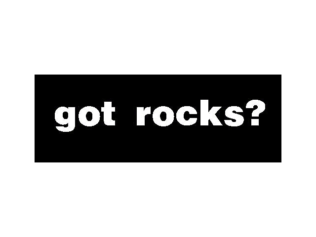Got Rocks Decal