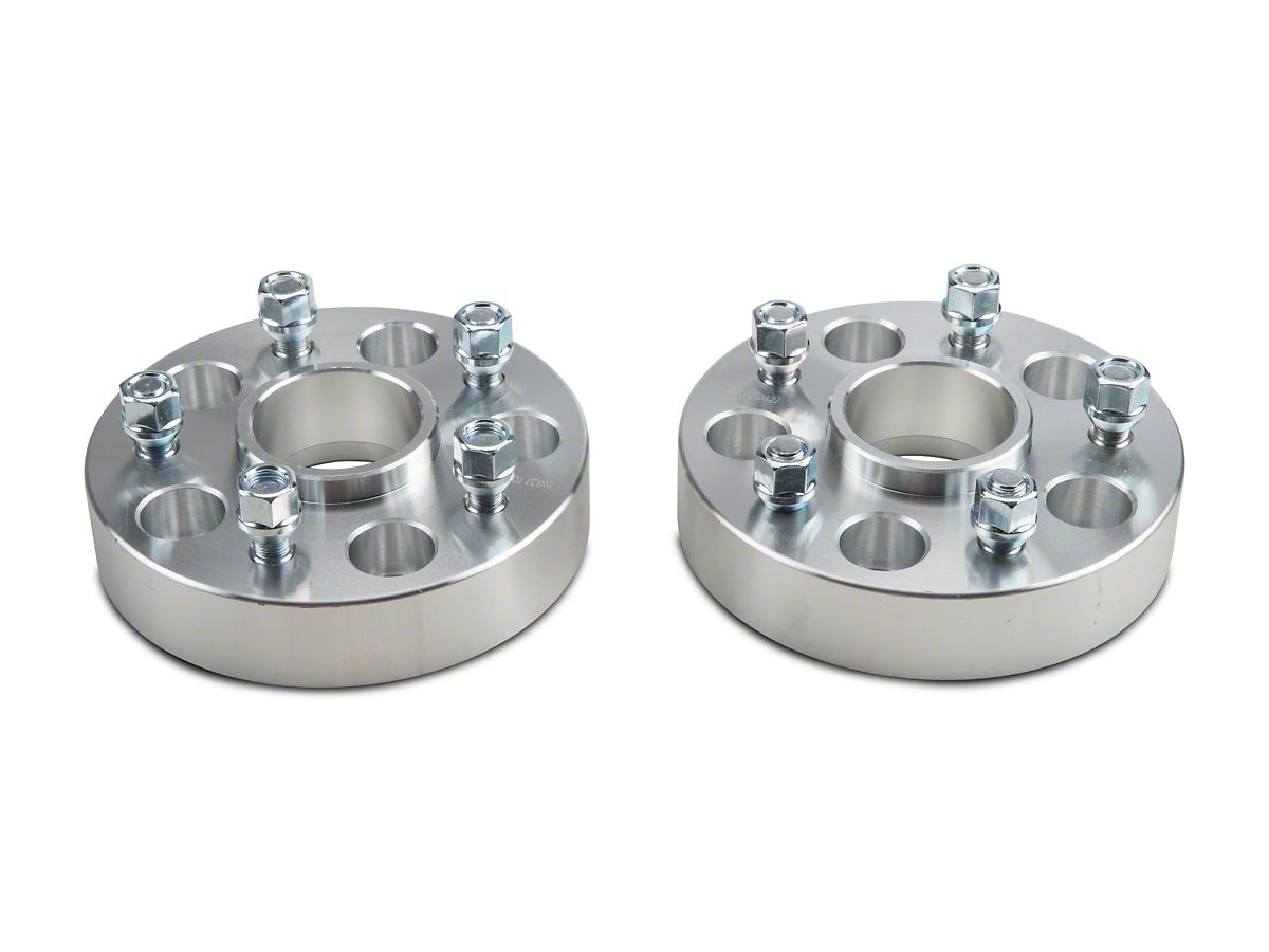 Rough Country 1.5 Wheel Spacers Aluminum Compatible w// 2007-2018 Jeep Wrangler JK Pair 1091RED
