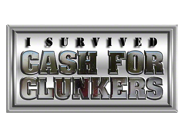 Cash For Clunkers Ca >> Jeep Wrangler I Survived Cash for Clunkers Sticker