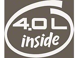 4.0L Inside Oval Decal