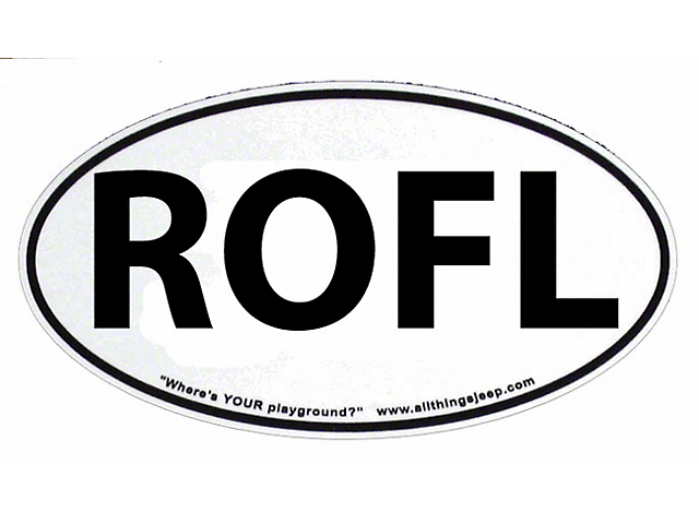 SEC10 Jeep Wrangler ROFL Euro-Style Oval Decal ATJ30944