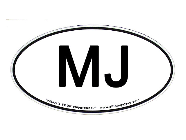 SEC10 MJ Euro-Style Oval Decal