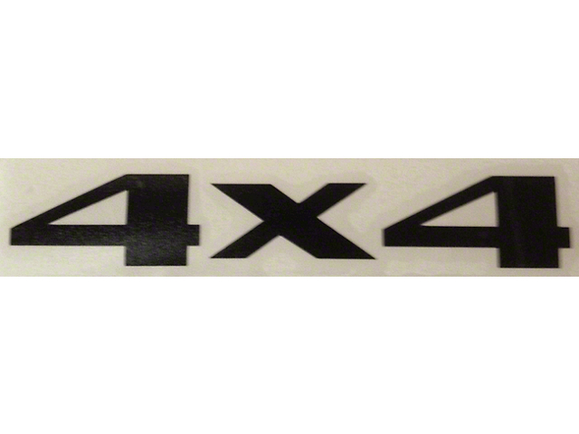 4x4 Decal - Black