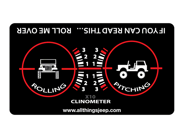 If You Can Read This Roll Me Over Clinometer Decal