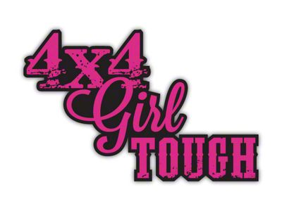 4x4 Girl Tough Decal