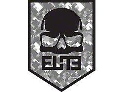 ELiTE Skull Badge Decal - Gray Digital Camo