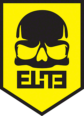 ELiTE Skull Badge Decal - Yellow