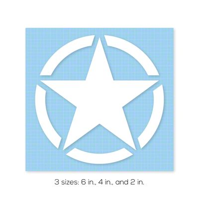 Jeep Star Decal - 6 Inch