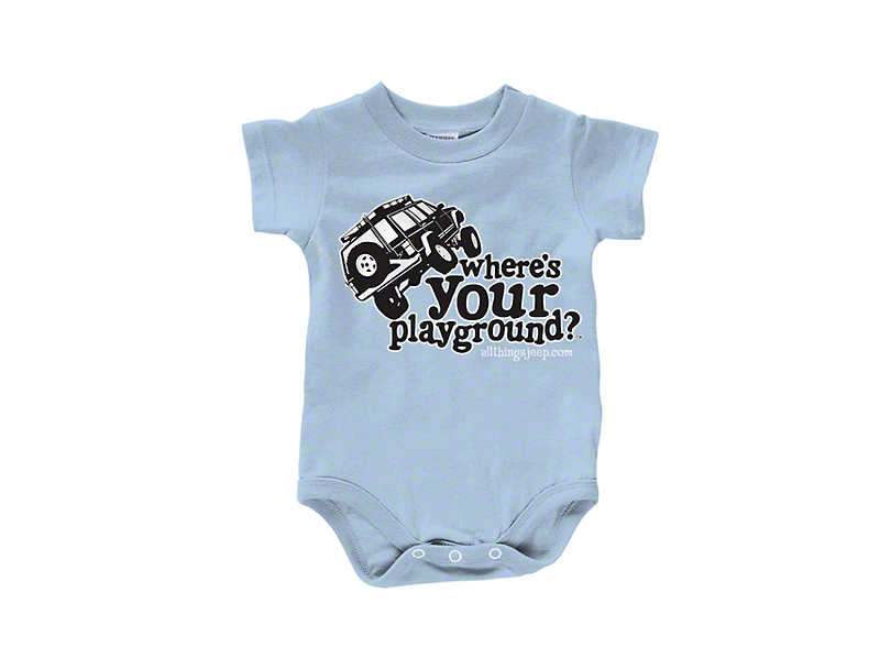 Wheres Your Playground Infant Creeper - Blue