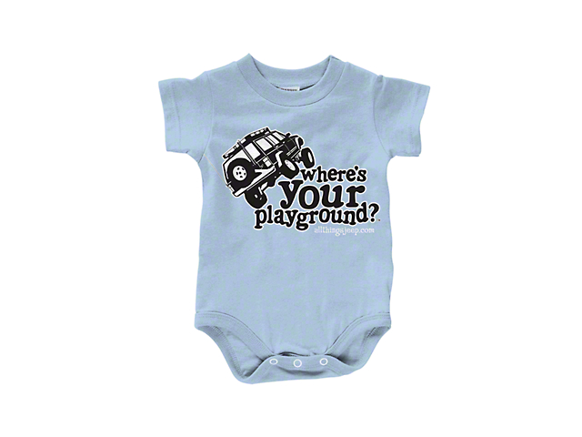 Where's Your Playground Infant Creeper; Blue