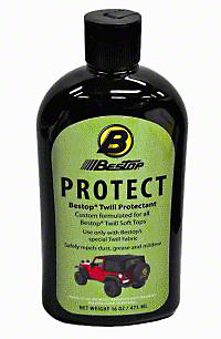 Bestop Black Twill Protectant for Soft Tops