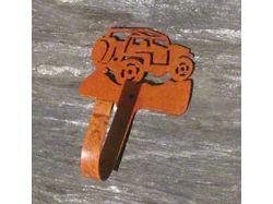 Rustic Jeep Coat Hook; Rear View