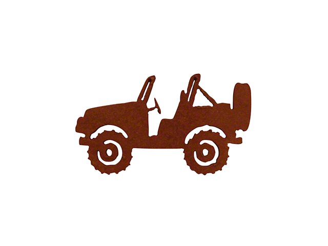 Rustic Metal Jeep Magnet; Topless Offroad
