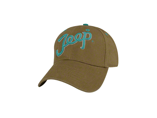 Mopar Jeep Teal Script Ladies Hat