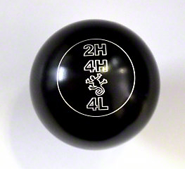RockNob Billet Transfer Case Shift Knob w/ Lizard Logo (87-18 Jeep Wrangler YJ, TJ & JK)