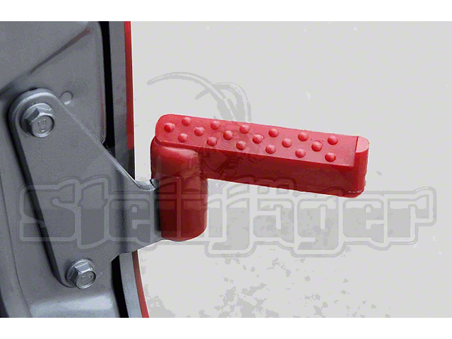 Steinjager Stationary Foot Pegs - Red (07-18 Jeep Wrangler JK)