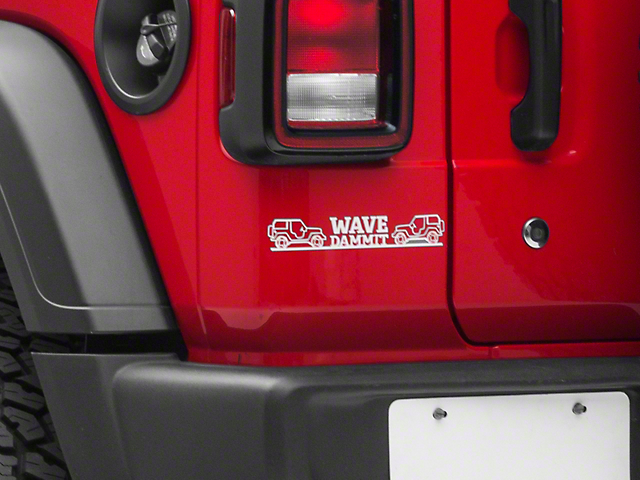 Wave Dammit Decal