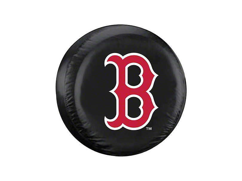Boston B Red Sox MLB Spare Tire Cover - Black - Large (87-20 Jeep Wrangler YJ, TJ, JK & JL)