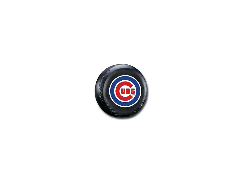 Chicago Cubs MLB Spare Tire Cover - Black - Large (87-20 Jeep Wrangler YJ, TJ, JK & JL)