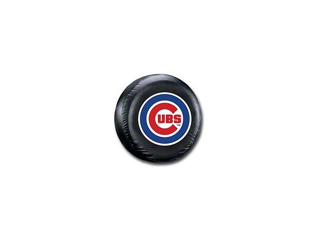 Chicago Cubs MLB Spare Tire Cover - Black - Large (87-19 Jeep Wrangler YJ, TJ, JK & JL)