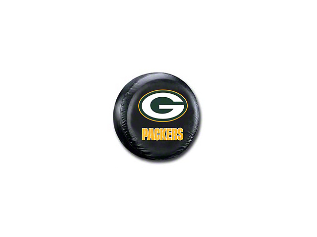 Green Bay Packers NFL Spare Tire Cover - Black - Large (87-20 Jeep Wrangler YJ, TJ, JK & JL)