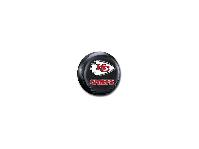 Kansas City Chiefs NFL Spare Tire Cover - Black (87-20 Jeep Wrangler YJ, TJ, JK & JL)