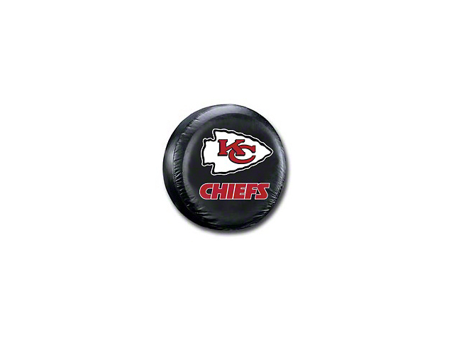 Kansas City Chiefs NFL Spare Tire Cover - Black - Large (87-19 Jeep Wrangler YJ, TJ, JK & JL)