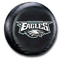 Philadelphia Eagles NFL Spare Tire Cover - Black (87-18 Jeep Wrangler YJ, TJ, JK & JL)