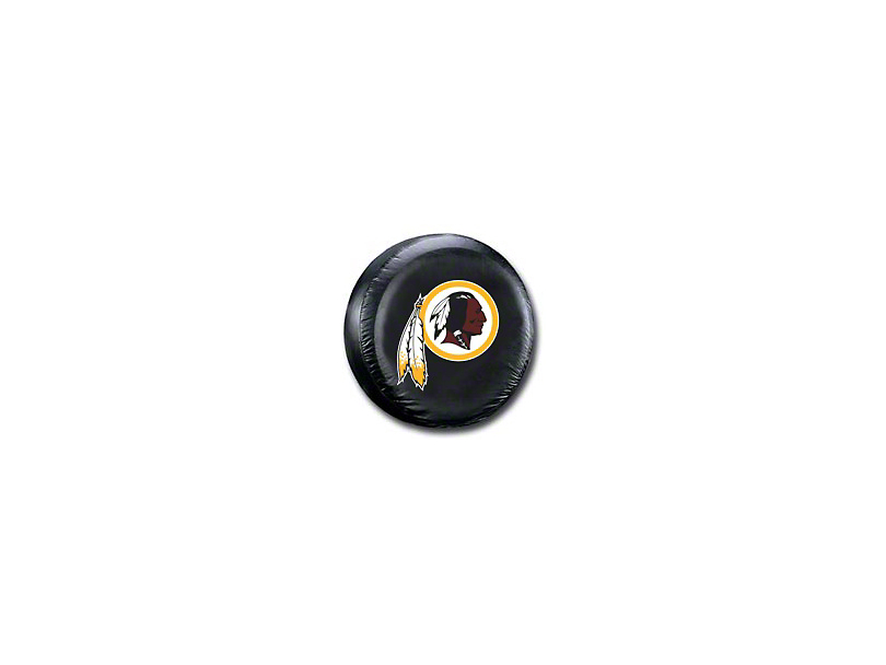 Washington Redskins NFL Spare Tire Cover - Black - Large (87-19 Jeep Wrangler YJ, TJ, JK & JL)