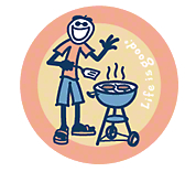 Life is Good Jake BBQing Sticker