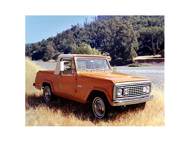 1972 Red Jeepster Commando Pickup Refrigerator Magnet