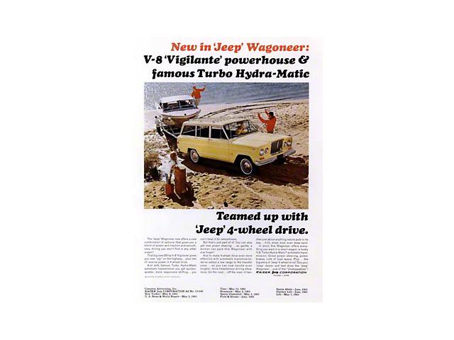 1965 Jeep Wagoneer Vigilante V8/T.H.M Ad Refrigerator Magnet