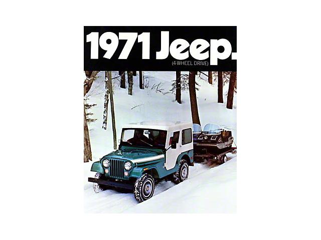 1971 AMC Jeep CJ5 with Snowmobile Refrigerator Magnet