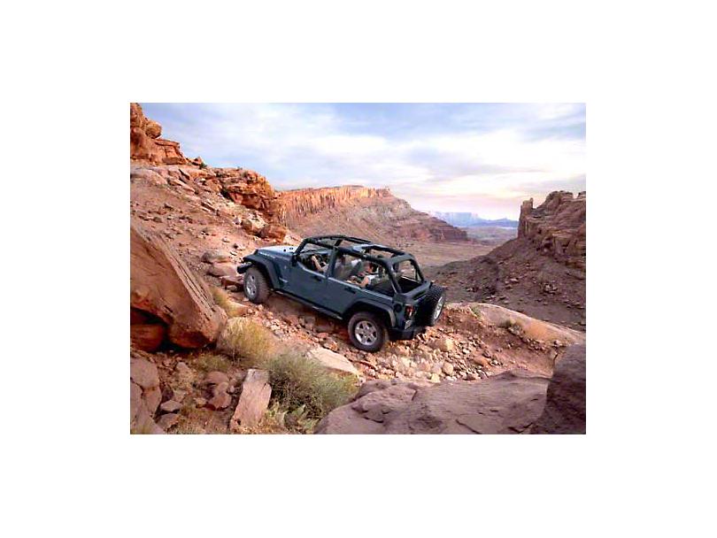 2007 Jeep Wrangler JK Unlimited Rubicon Off Road Climb Refrigerator Magnet