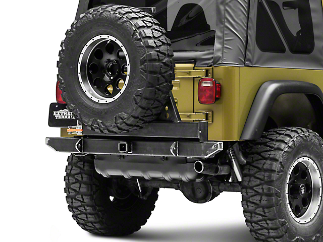 LoD Offroad Xpedition Rear Bumper w/ Tire Carrier - Bare Steel (97-06 Jeep Wrangler TJ)