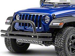 RedRock 4x4 Tubular Front Bumper - Textured Black (18-20 Jeep Wrangler JL)