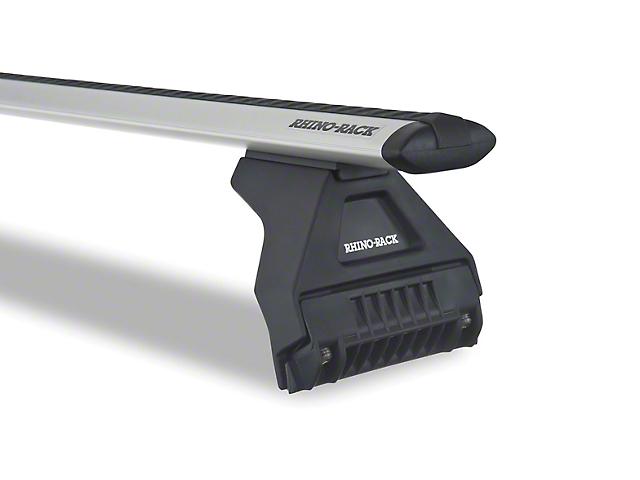 Rhino-Rack Vortex RL110 3-Bar Roof Rack; Silver (18-21 Jeep Wrangler JL 4 Door)