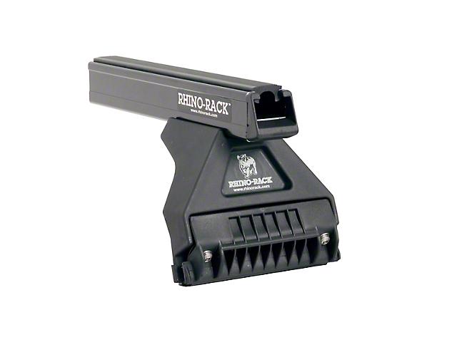 Rhino-Rack Heavy Duty RL110 3 Bar Roof Rack; Black (18-21 Jeep Wrangler JL 4 Door)