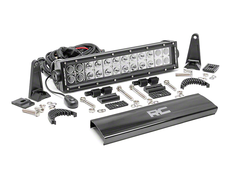 Rough Country 12 in. Chrome Series Dual Row LED Light Bar - Flood/Spot Combo