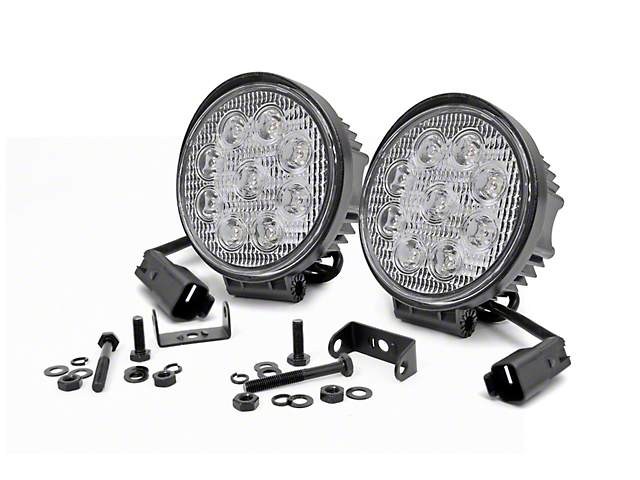 Rough Country 4-Inch LED Round Lights; Spot Beam