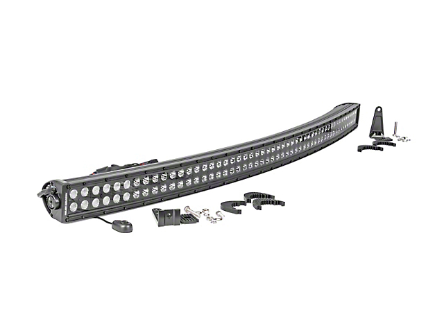 Rough Country 50 in. Black Series Curved Dual Row LED Light Bar - Flood/Spot Combo