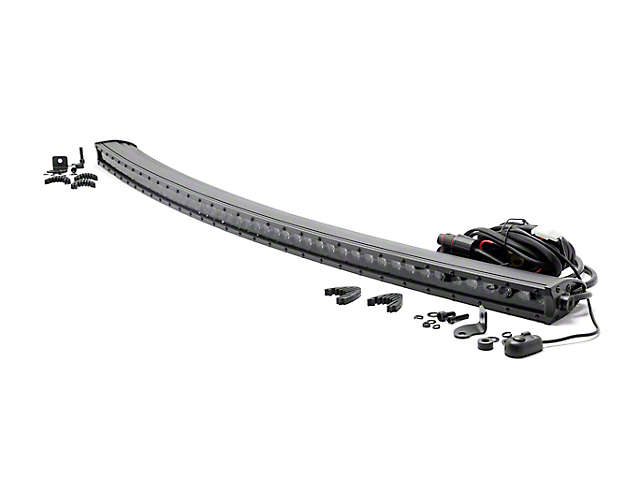 Rough Country 50 in. Black Series Curved Single Row LED Light Bar - Spot Beam