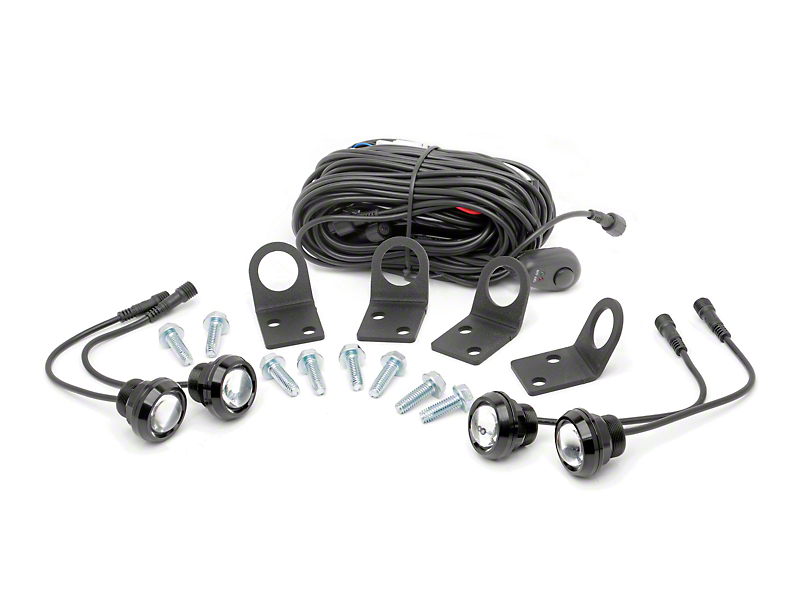 Rough Country LED Rock Light Kit w/ Mounting Brackets (Universal Fitment)