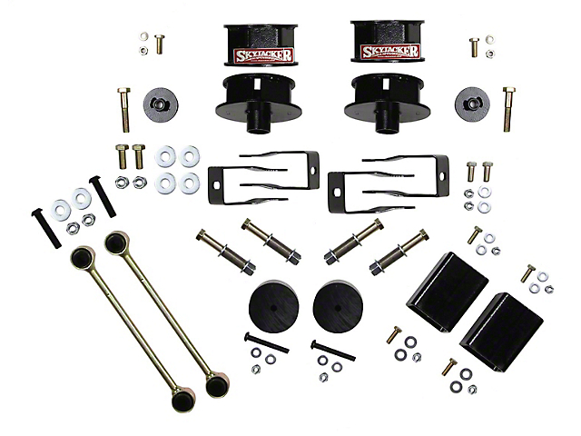 SkyJacker 2.50-Inch Coil Spacer Leveling Kit (18-21 Jeep Wrangler JL 2 Door)