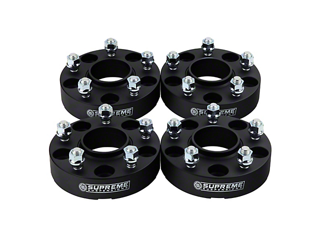 Supreme Suspensions 1.5 in. Pro Billet Hub & Wheel Centric Wheel Spacers - Set of Four (87-06 Jeep Wrangler YJ & TJ)